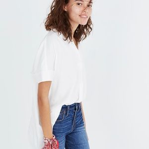 Madewell Tops - NWT Madewell Courier Button-Back Shirt in White